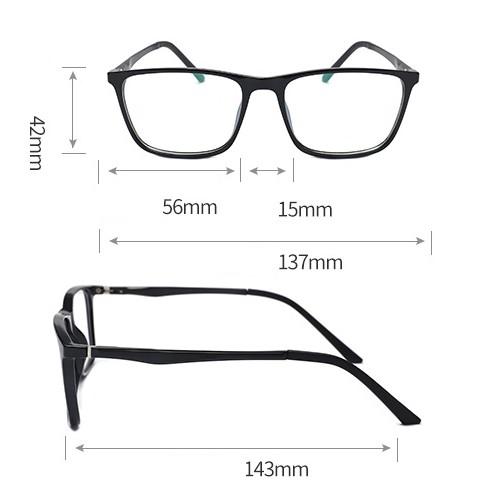 ES1 gamer szemüvge / monitor szemüveg méretek