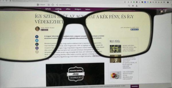 Monitor szemüveg véd a képernyőtől