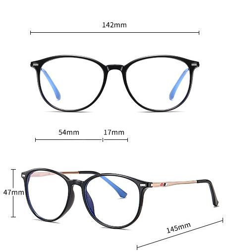 ANGL1 monitor szemüveg méretei