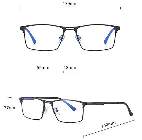 STL1 PRO fekete Monitor szemüveg méretei